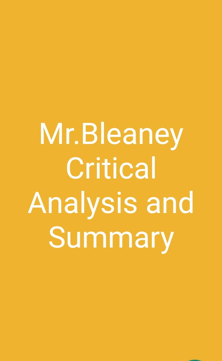 Mr. Bleaney Critical Analysis and Summary