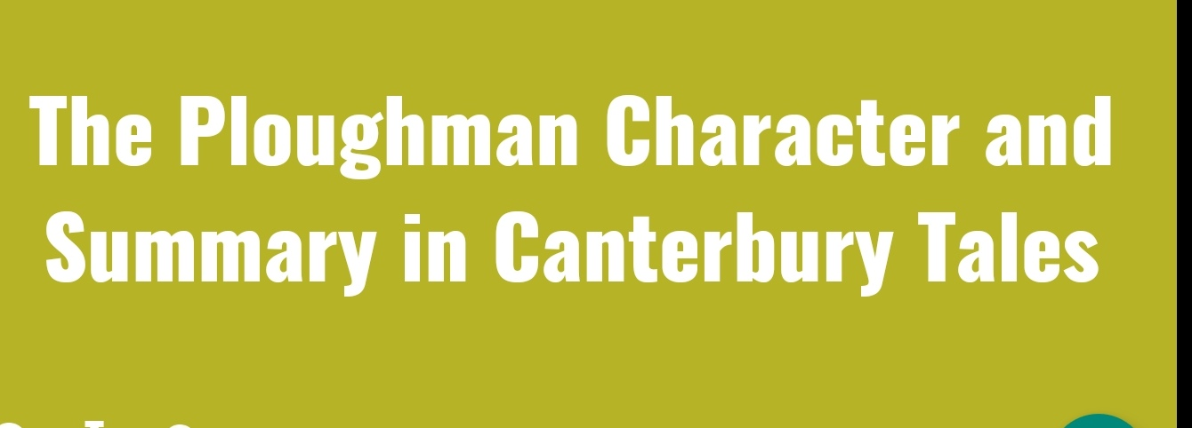 THE PLOUGHMAN CHARACTER