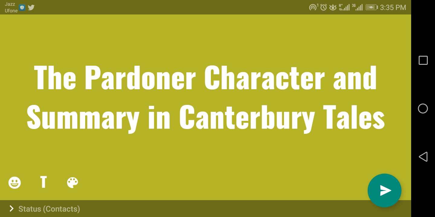 The Pardoner Character in Canterbury Tales